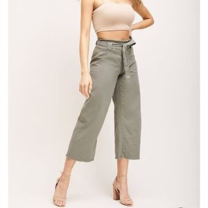 NWT Dynamite High Waisted Belted Pants